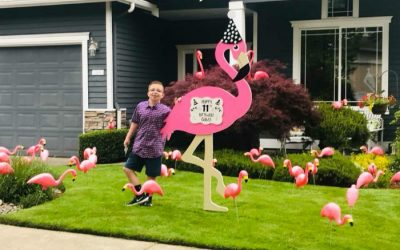 Look Who Flew in to Wish You a Happy Birthday?! Flock them with Love with a Flamingo Flocking in Washington!