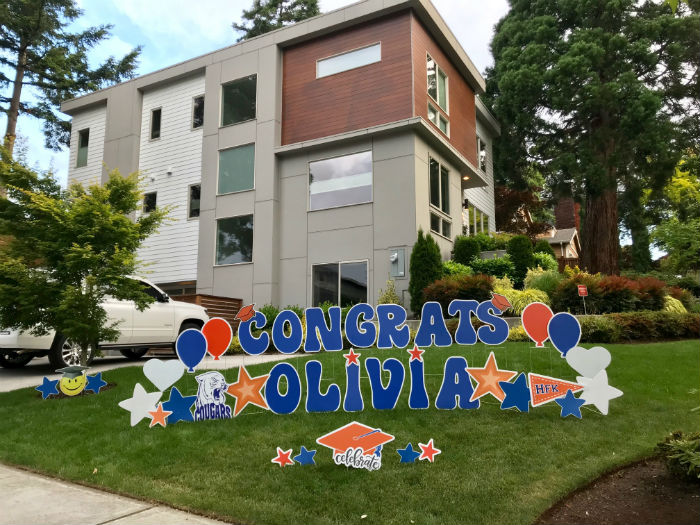 Celebrate Your Grad with Yard Announcements FUN Graduation Yard Signs!