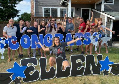 Congrats Ellen Graduatio Yard Signs