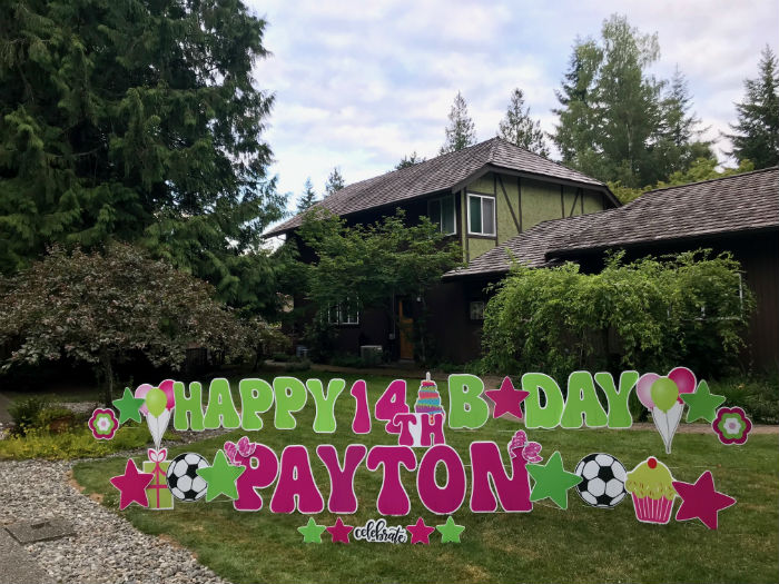 Yard Announcements are a FUN way to Celebrate Birthdays in a BIG Way with Birthday Yard Signs