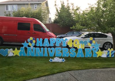 Happy 40th Anniversary Yard Signs