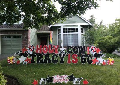 Holy Cow 60th Birthday Yard Signs