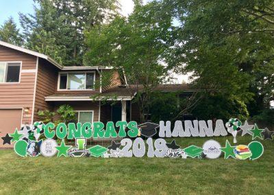 Jackson High Congrats Grad Yard Signs