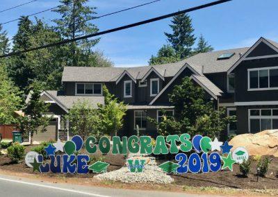 Woodinville High School Congrats Grad Yard Signs