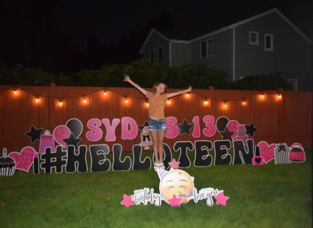 Birthday Yard Signs Make 13th Birthdays More Fun!  Celebrate BIG!
