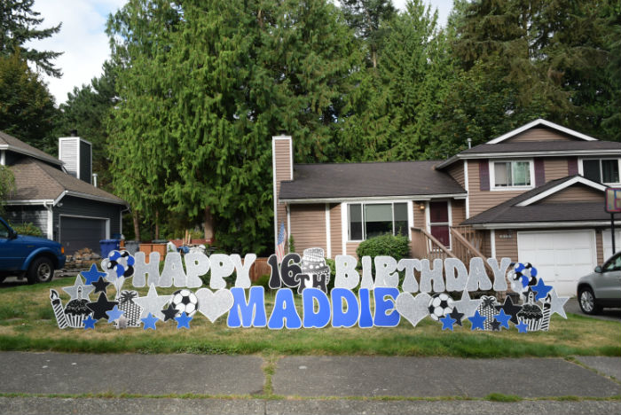 A Sweet 16 Surprise!  Happy Birthday Yard Signs in Washington for a 16th or Any Other Birthday!