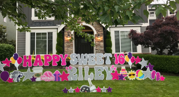Celebrate Sweet 16 BIG with Birthday Yard Signs from Yard Announcements!