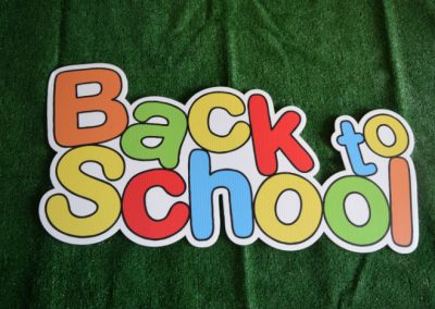 Back to School Yard Sign