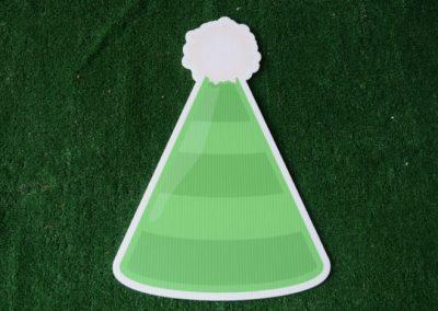 Birthday green striped hat yard sign