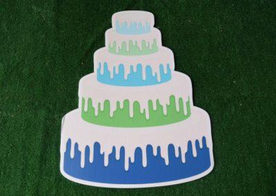 Birthday lime royal blue cake yard sign