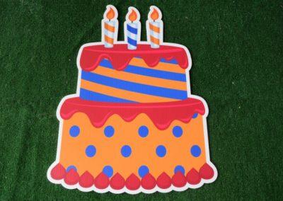 Birthday orange blue yard sign