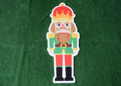 Christmas Nutcraker yard sign