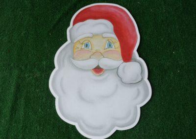Christmas Santa face yard sign