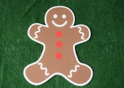 Christmas boy gingerbread yard sign