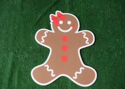 Christmas girl gingerbread yard sign
