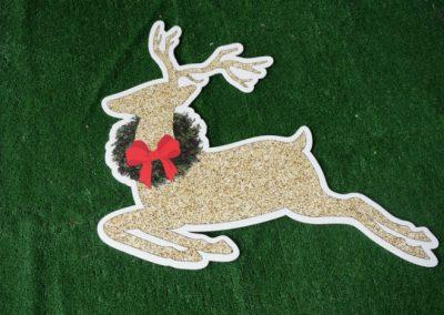 Christmas gold glitter reindeer yard sign