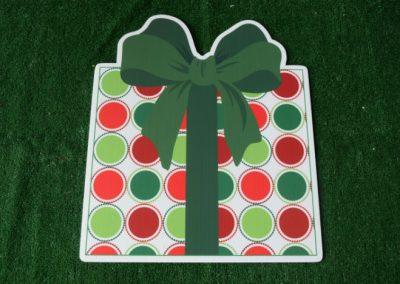 Christmas polka dot present yard sign