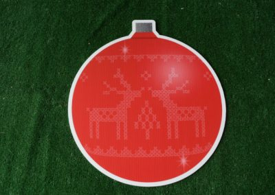 Christmas red ornament yard sign