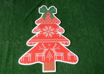 Christmas red sweater tree yard sign