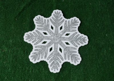 Christmas silver snowflake yard sign