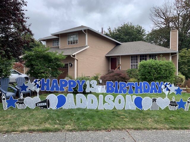 Yard Announcements Loves Spreading Smiles with our FUN Birthday Yard Signs and Party Decorations!