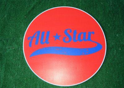 all star yard sign