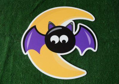 bat moon yard sign