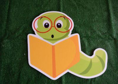 book worm yard sign