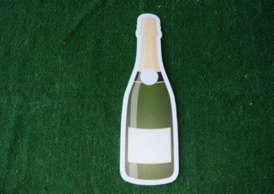 champagne bottle yard sign
