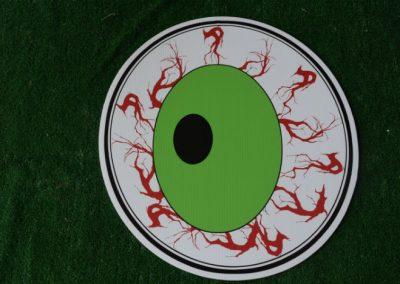 eyeball halloween yard sign