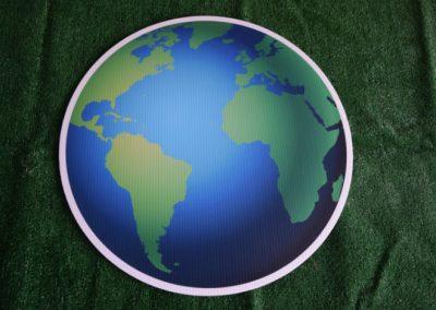 globe yard sign