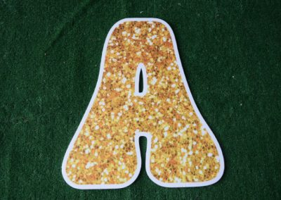 L-12 Gold Glitter Letter Signs