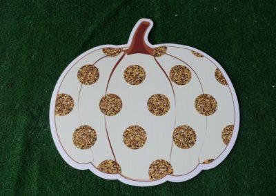 gold polka dot pumpking yard sign