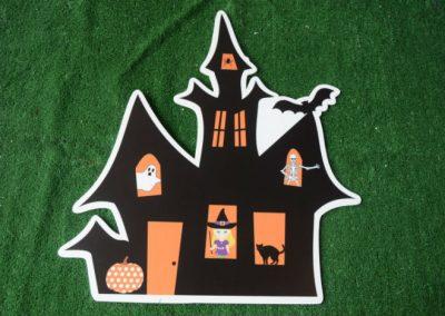haunted house halloween yard sign
