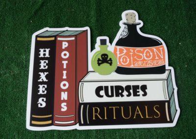 hexes poison curses halloween yard sign