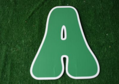 L-9 Kelly Green Letter Signs