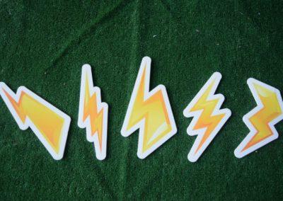 lightening bolts yard signs