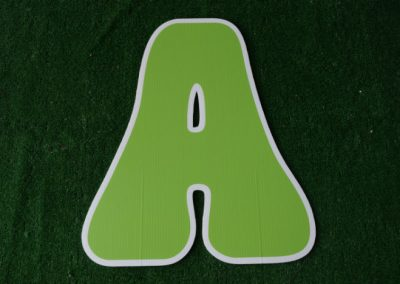 L-6 Lime Green Letter Signs