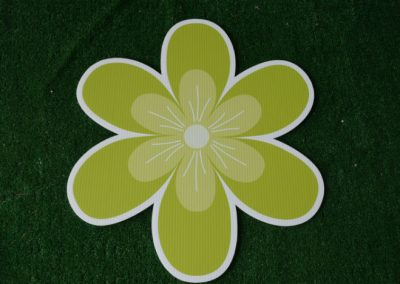 lime tropical flower yard sign