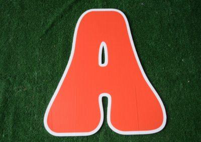 L-8 Orange Letter Signs