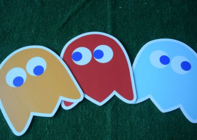 pac man monsters yard sign