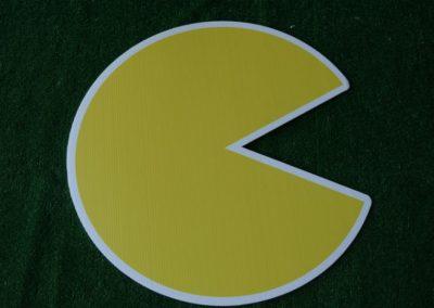 pac man yard sign