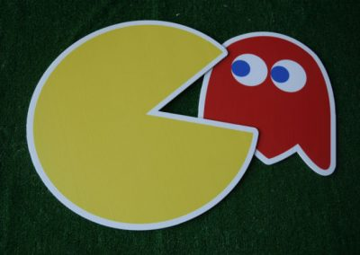 pacman with monster yard signs