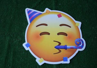 party emoji yard sign