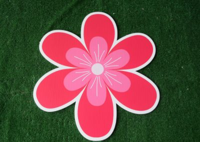 pink tropical flower yard sign