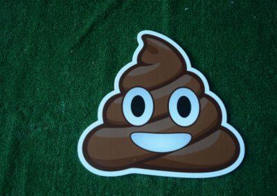 poop emoji yard sign