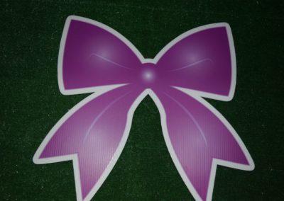 purple bow yard sign
