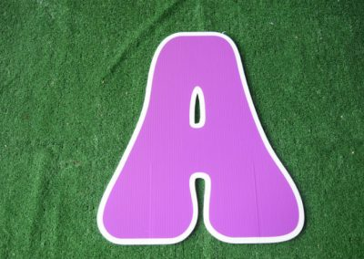 L-10 Purple Letter Signs