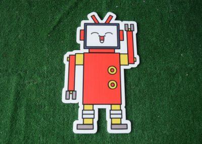 robot yard sign