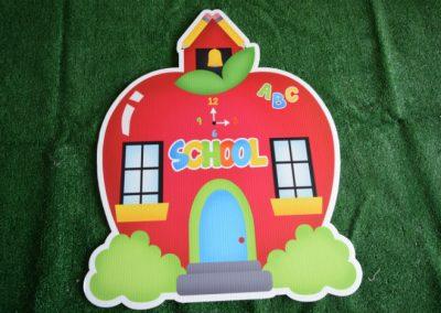 school house apple yard sign
